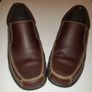 Dr. Scholl's Slip On Leather Loafers Brown Sz. 10M